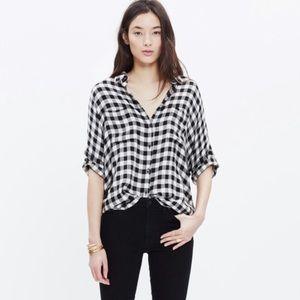 Madewell Buffalo Plaid Check Courier Plaid Shirt
